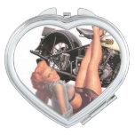 Pin Up Biker Mirror Compact Mirrors