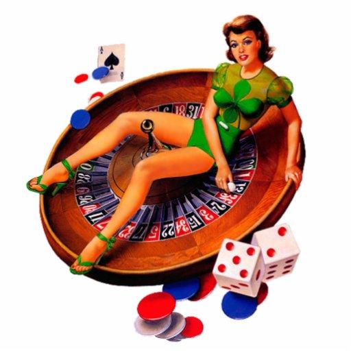 Pin Up Casino Girl Las Vegas Cut Outs Zazzle