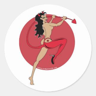 Pin Up Classic Round Sticker