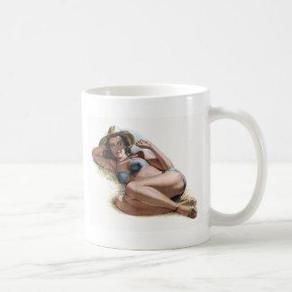 Pin Up Classic White Coffee Mug