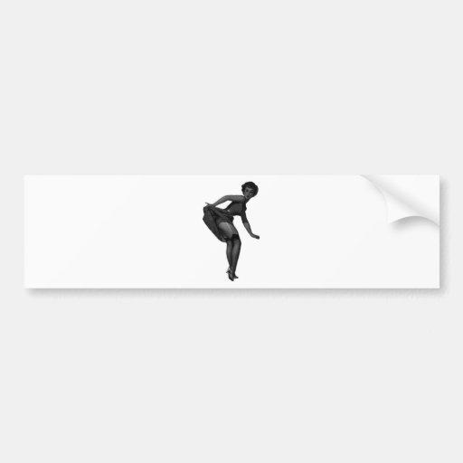 Pin Up Design! Bumper Stickers