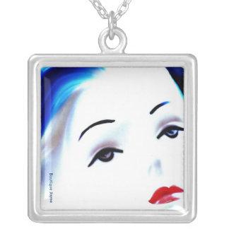Pin Up Diamond Girl, Necklace Womens' Jewelry