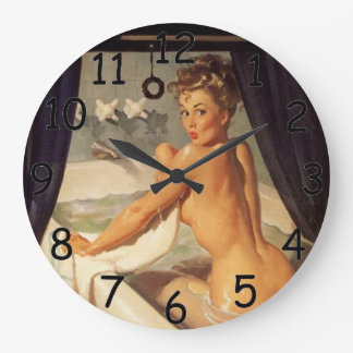 Pin Up Dirty Clock