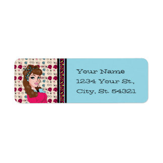 Pin-up Girl Address Labels