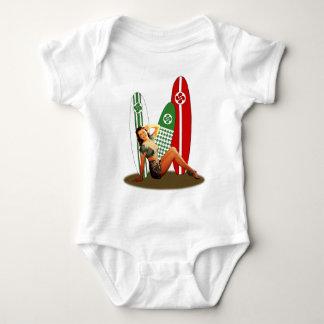 Pin-up girl Basque France Baby Bodysuit