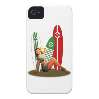 Pin-up girl Basque France iPhone 4 Case