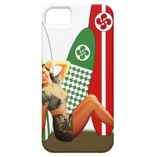 Pin-up girl Basque France iPhone SE/5/5s Case