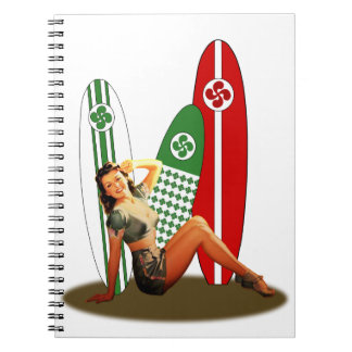 Pin-up girl Basque France Notebook