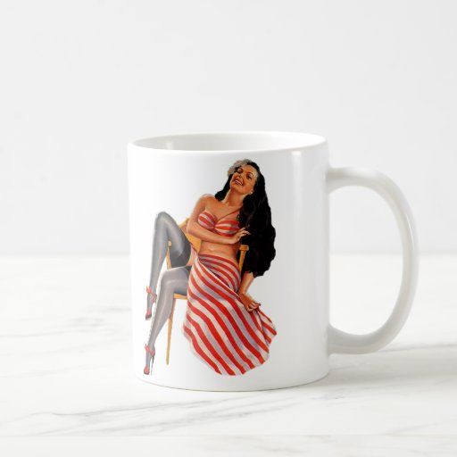 Pin Up Girl Classic White Coffee Mug