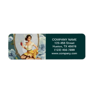 Pin Up Girl Cosmetologist Hair makeup artist Label