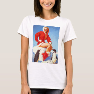 Pin Up Girl in Red ( Santa's Style Outfit) Elvgren T-Shirt