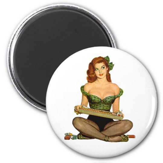 Pin Up Girl Magnet