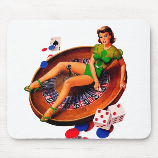 Pin Up Girl Mouse Pad