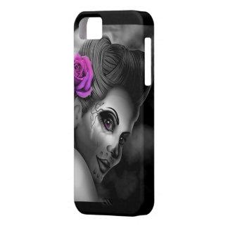 Pin up Girl Pink Rose Case