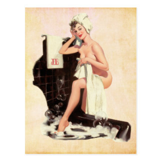 Pin up Girl Postcard