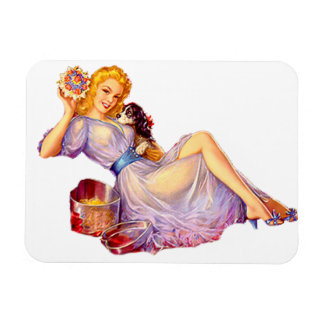 Pin Up Girl Rectangle Magnets