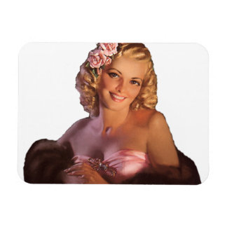 Pin Up Girl Rectangular Magnets