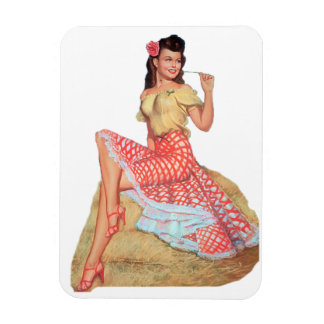 Pin Up Girl Magnet