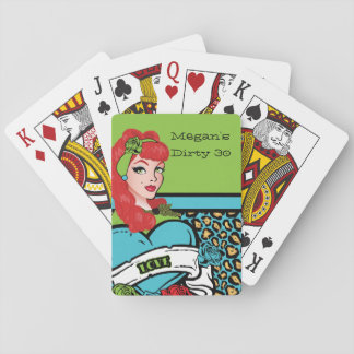 Pin-up Girl, Rock-A-Billy Party Playing Cards