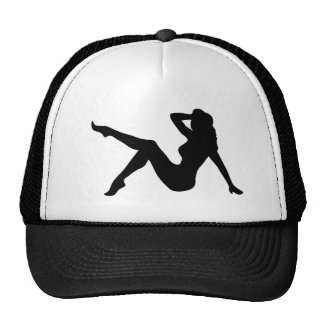 """""""Pin-Up Girl Silhouette"""" Hat"""