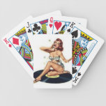 Pin Up Girl sitting on Record Bicycle Card Deck