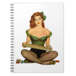 Pin Up Girl Spiral Note Books