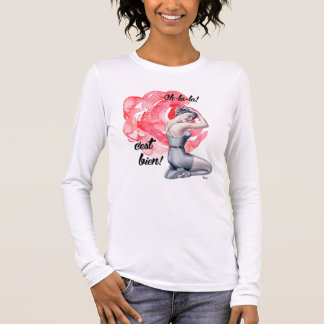 Pin-Up Girl with Floral Background T-Shirts
