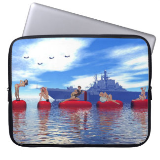 Pin-up Girls and Armada Surreal  Laptop Case Computer Sleeve
