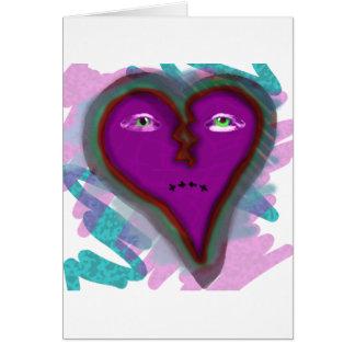 Pin-Up Godiva broken heart logo Card