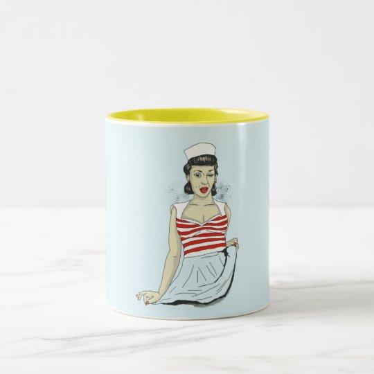 pin up II Two-Tone Coffee Mug