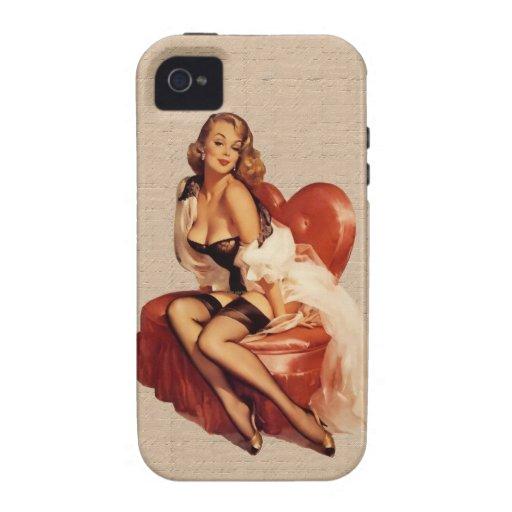 pin up nostalgica Case-Mate iPhone 4 fundas
