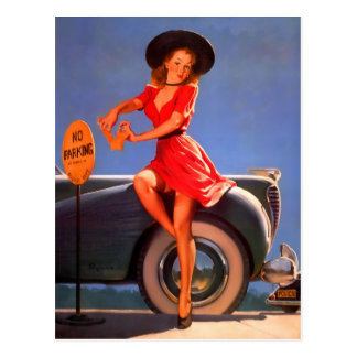 Pin-Up Parking Ticket Post Cards