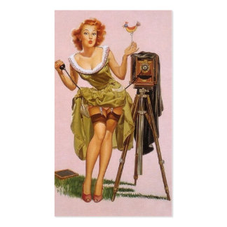 Pin up Photographer Profile Cards Double-Sided Standard Business Cards (Pack Of 100)