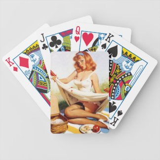Pin Up Picnic Bicycle Playing Cards