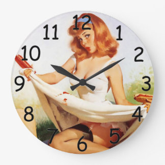 Pin Up Picnic Clock