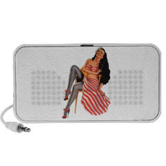 Pin Up Pinup Girl iPhone Speakers