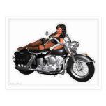 Pin Up Postcard - Cruiser ~ Biker Girl