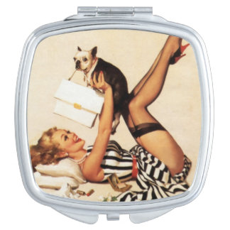 Pin Up Puppy Love Mirror
