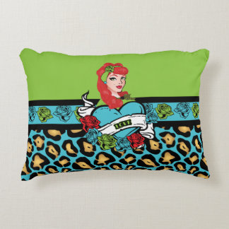 Pin-up, Rock-A-Billy, Love Decorative Pillow