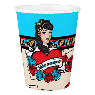Pin-up, Rock-A-Billy Paper Cup