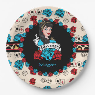 Pin-up, Rock-A-Billy Paper Plate
