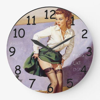 Pin Up School Teacher Clock