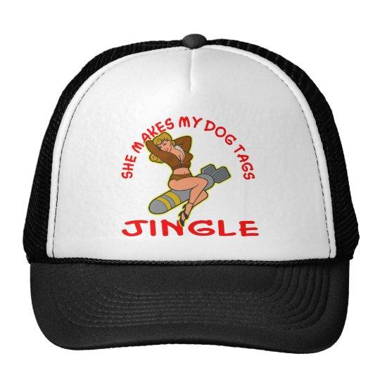 Pin Up She Makes My Dog Tags Jingle Trucker Hat
