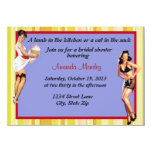 "Pin Up shower invitation 4.5"" X 6.25"" Invitation Card"