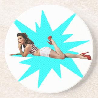 Pin Up Star Drink Coaster