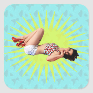 Pin Up Star Stickers