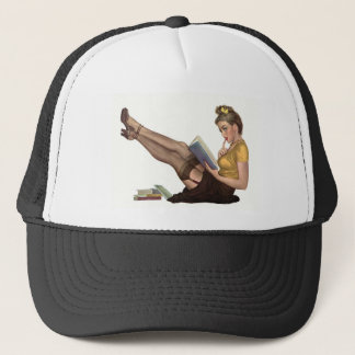 Pin up trucker hat