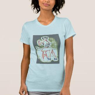 Pin-up vintage t-shirt (bathroom)