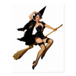 Pin-Up Witch Post Card