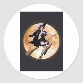 Pin-Up Witch Stickers